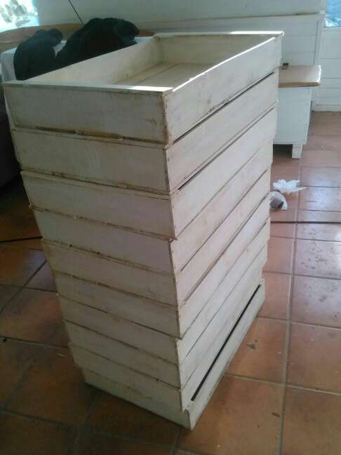 Imagen Cajas de pescado de madera