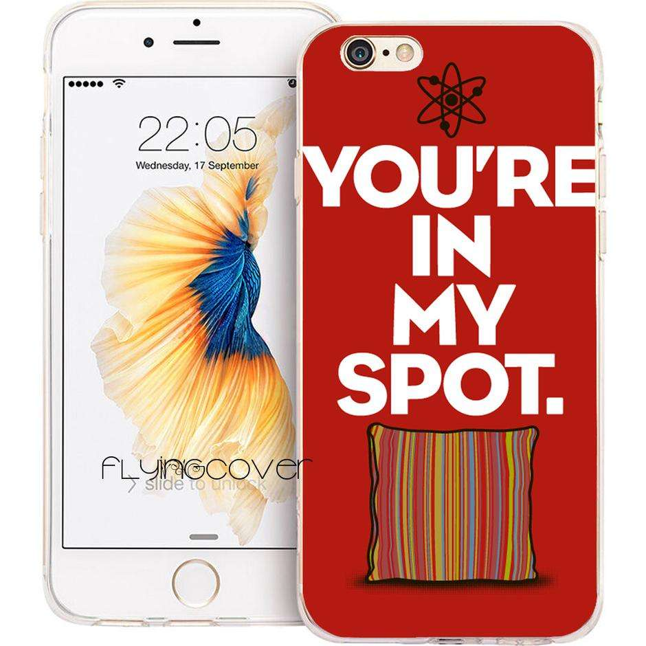Imagen Big Bang Theory Carcasa de silicona para iPhone 7 7Plus iPhone 5S 5 SE 6 6S 6Plus 4S 4
