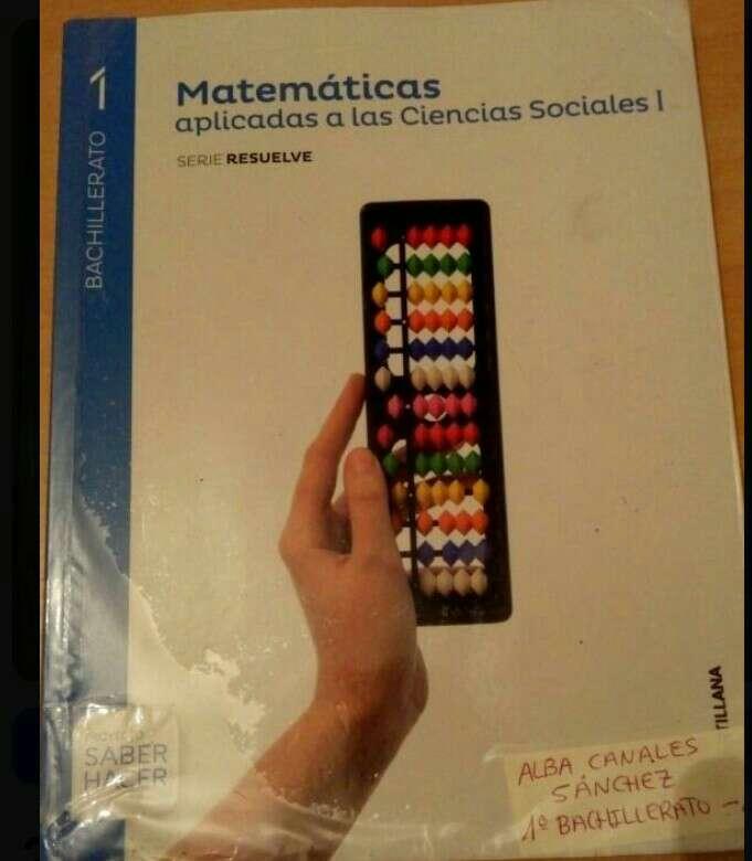 Imagen Libro matemáticas 1°BTO