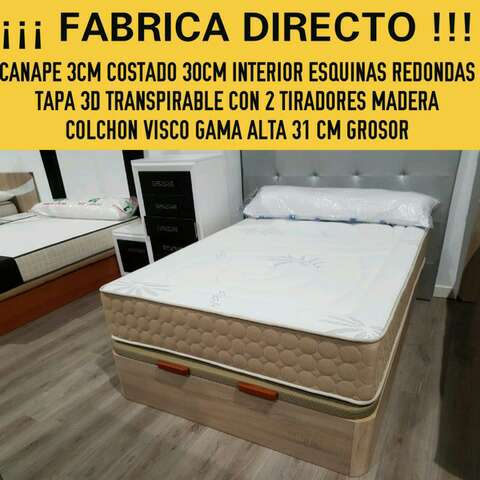 Imagen canape + colchón viscoelastica 3D