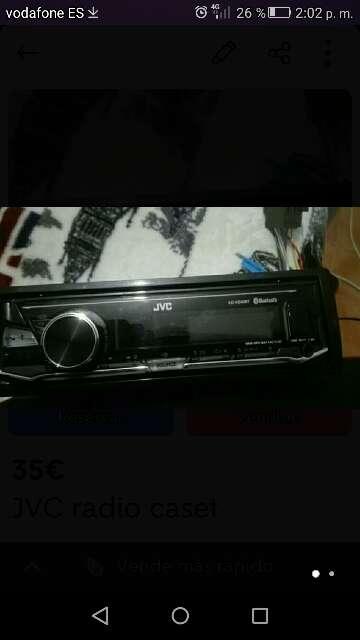 Imagen radio caset JVC