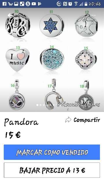 Imagen abalorios Pandora