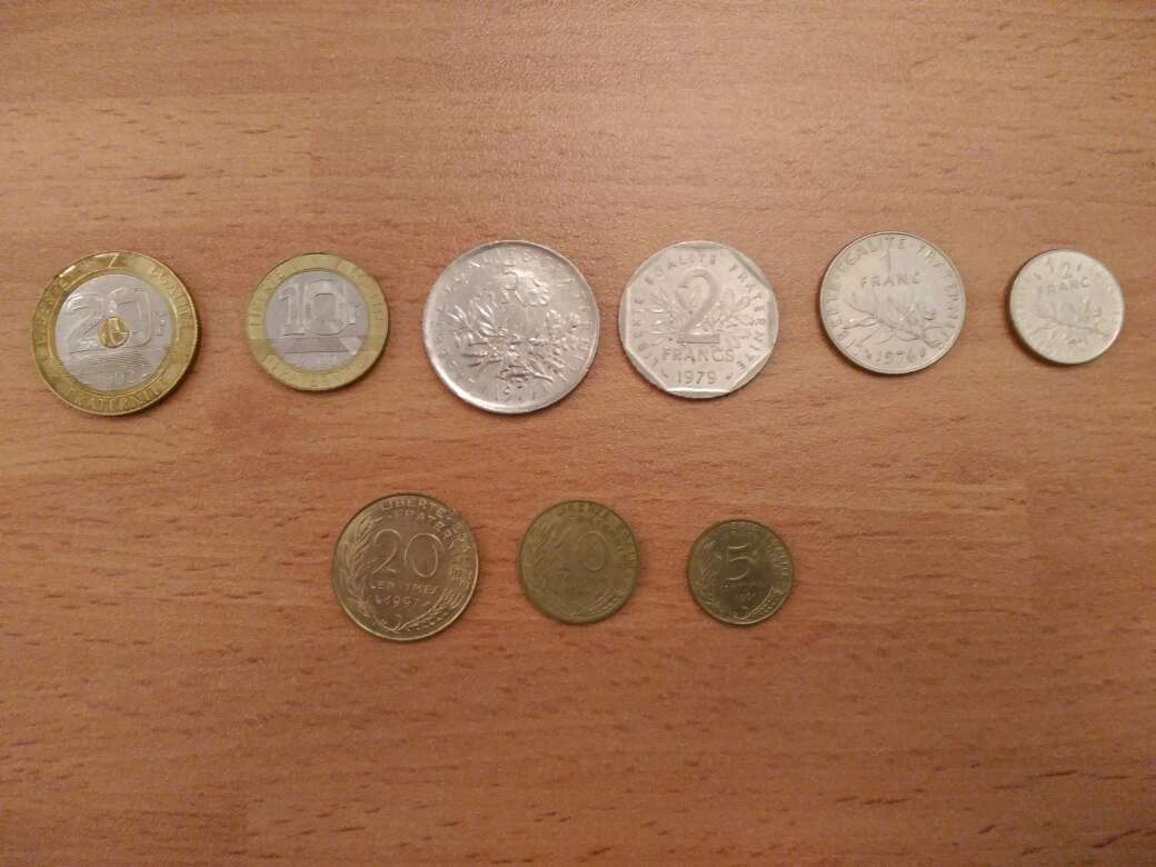 Imagen Lote numismática francesa-francos/monedas-