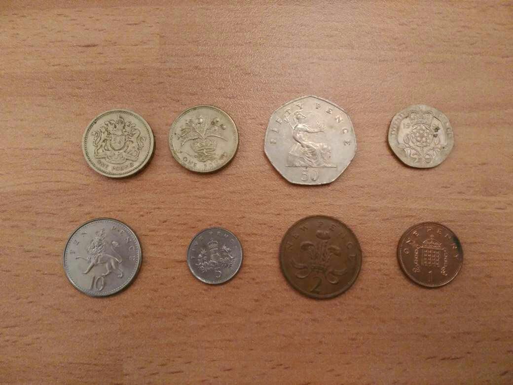 Imagen Lote libras esterlinas-monedas-