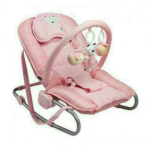 Imagen producto Hamaca balancín Fancy baby rosa. 1