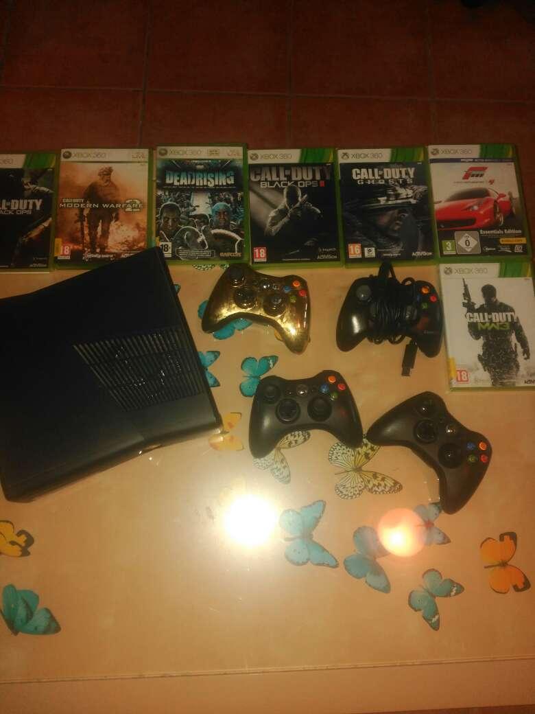 Imagen Xbox 360 7juegos+4mandos