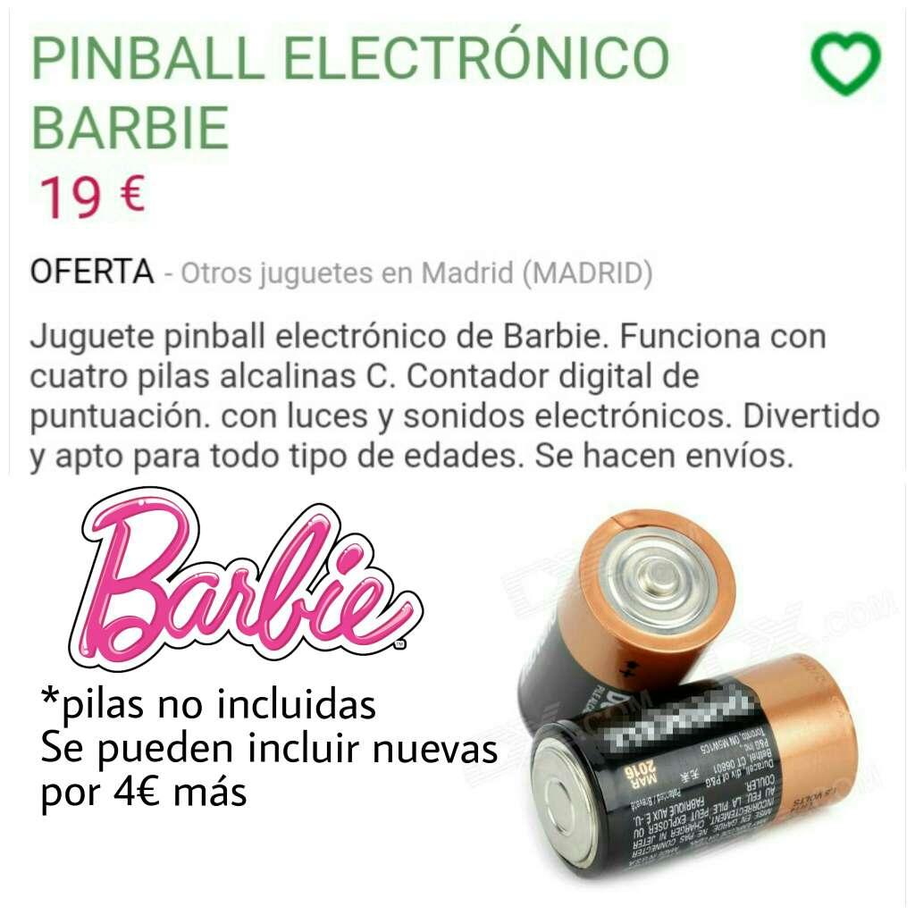 Imagen producto Barbie pinball electrónico  4