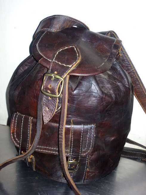 Imagen Leather bags for the Moroccan traditional industry