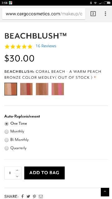 Imagen producto Colorete beach blush tono coral 4