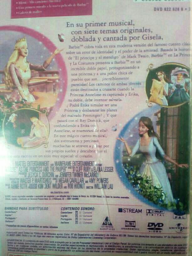 Imagen producto DVD Película Barbie  3