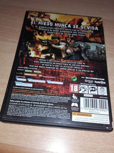 Imagen producto RESIDENT EVIL 5 2