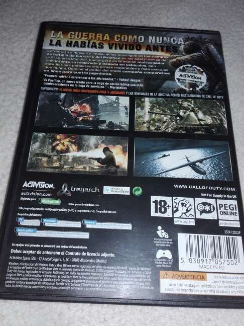 Imagen producto Call of duty: world at war 2
