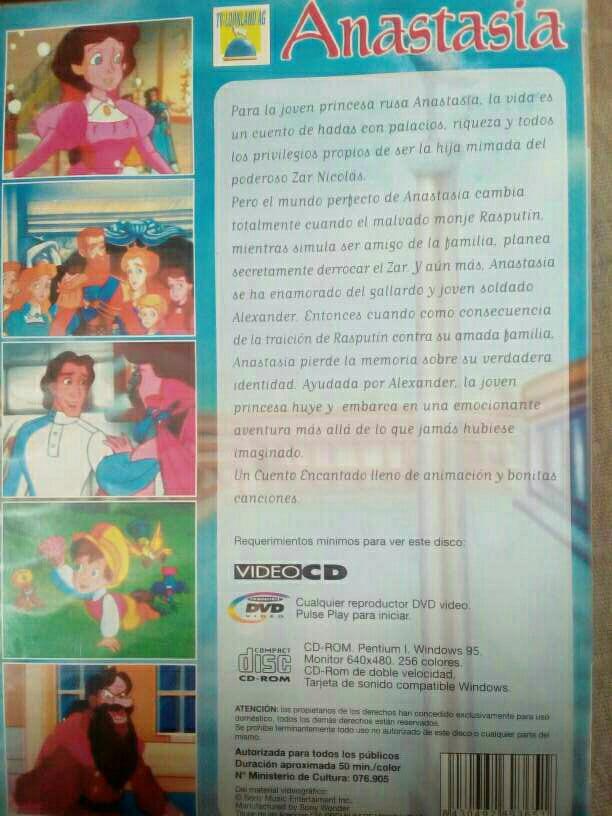 Imagen producto Anastasia - Película en DVD 2