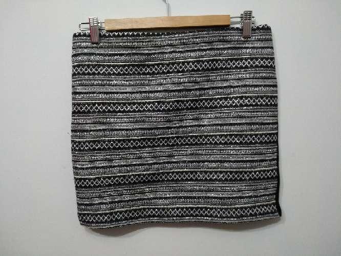 Imagen minifalda elástica plateada
