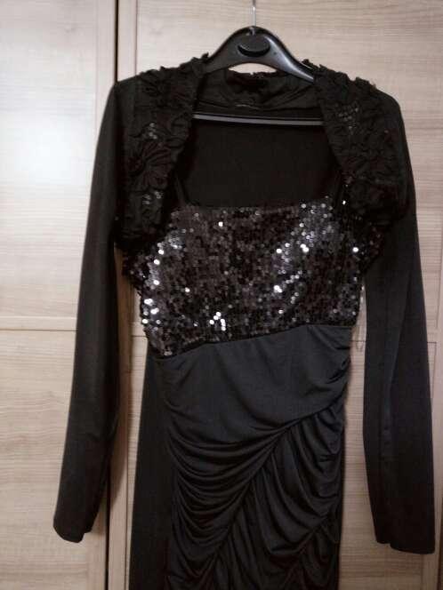 Imagen producto Vestido lentejuelas y bolero 2