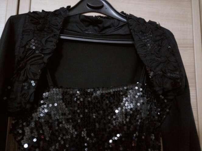 Imagen producto Vestido lentejuelas y bolero 3