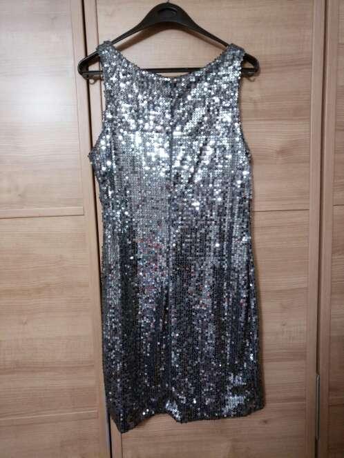 Imagen producto Vestido lentejuelas gris 4