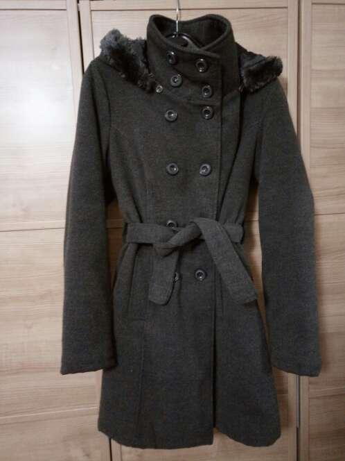 Imagen Abrigo gris lana
