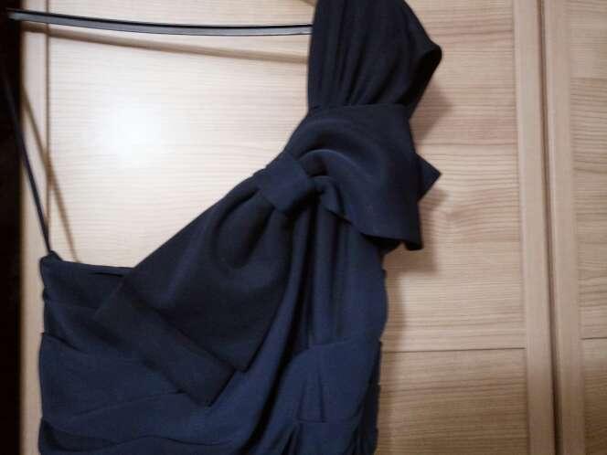Imagen producto Vestido cocktel azul marino 2