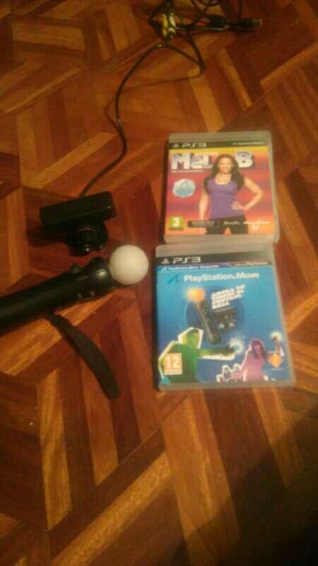Imagen Ps3 -mando move, cámara y juegos