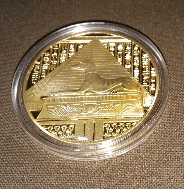 Imagen Monedas conmemorativas del Egipto antiguo.