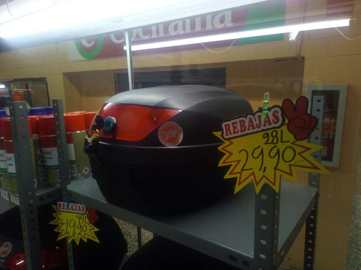 Imagen baúl moto para un casco 28 L