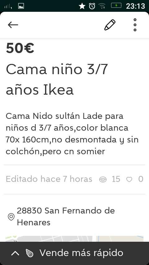 Imagen producto Cama niño 3/7 años Ikea 3