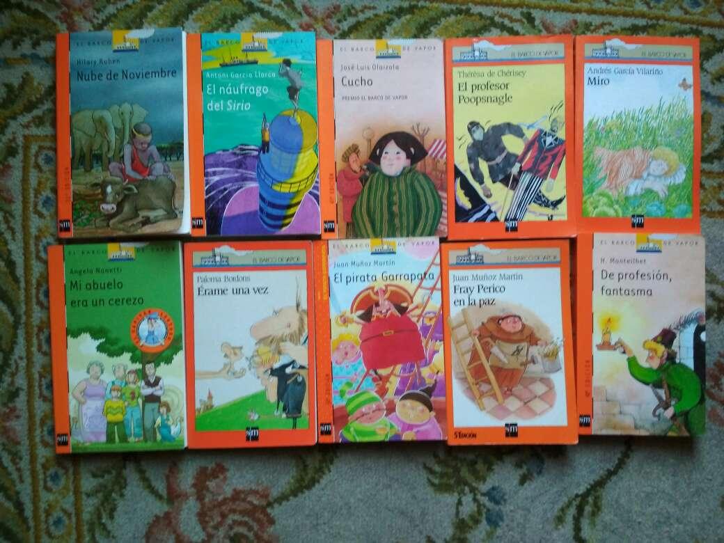 Imagen libros barco de vapor serie naranja a 2 €