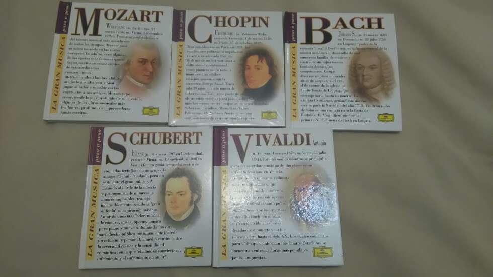 Imagen Bach,Chopin,Vivaldi Mozart y Schubert con cd