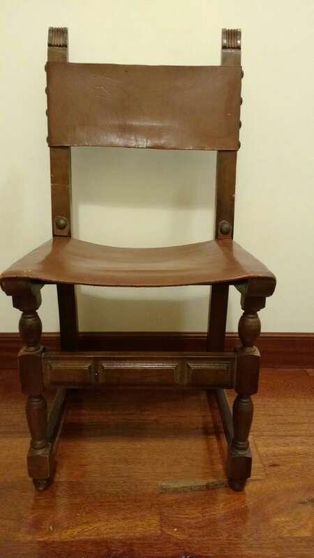 Imagen Sillas castellanas con asiento de cuero