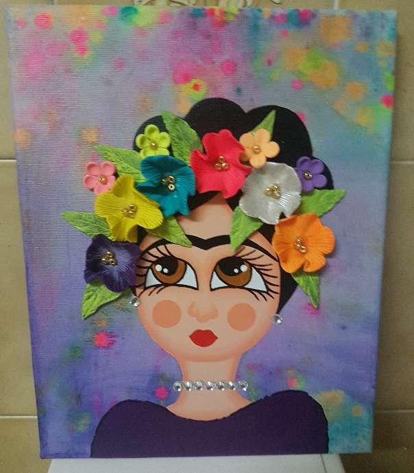Imagen cuadros pintados de frida kahlo