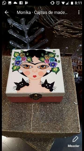 Imagen cajas de madera frida kahlo