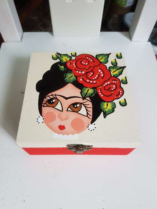 Imagen producto Cajas de madera frida kahlo 2