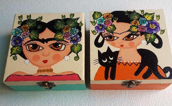 Imagen producto Cajas de madera frida kahlo 3