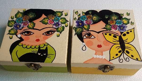 Imagen producto Cajas de madera frida kahlo 4