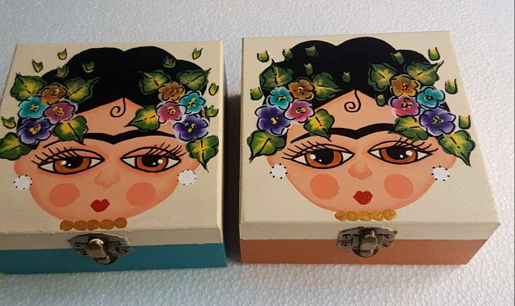 Imagen producto Cajas de madera frida kahlo 5