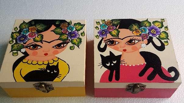 Imagen producto Cajas de madera frida kahlo 7