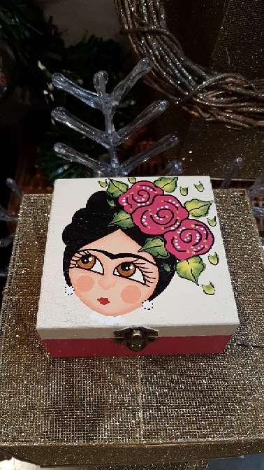 Imagen producto Cajas de madera frida kahlo 8