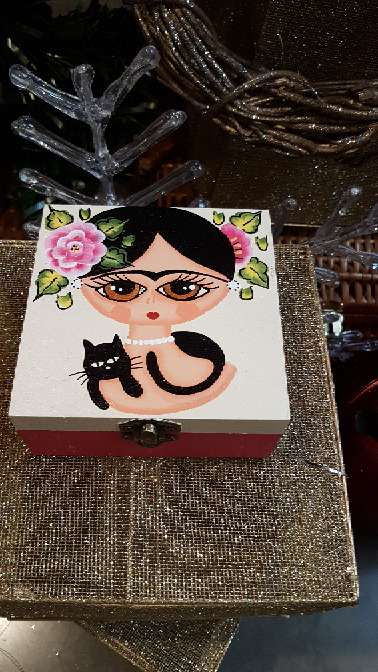 Imagen producto Cajas de madera frida kahlo 9