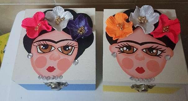 Imagen producto Cajas de madera  frida kahlo  6