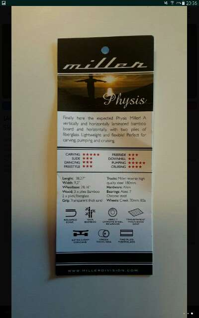 Imagen producto Skate Longboard Miller Physis 3