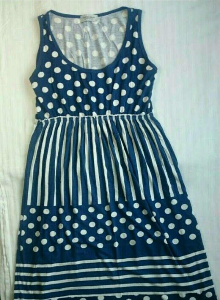 Imagen producto Vestido azul y blanco  2