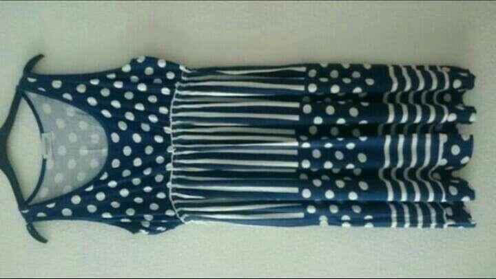 Imagen producto Vestido azul y blanco  4
