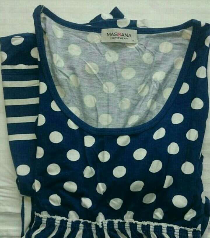 Imagen producto Vestido azul y blanco  3