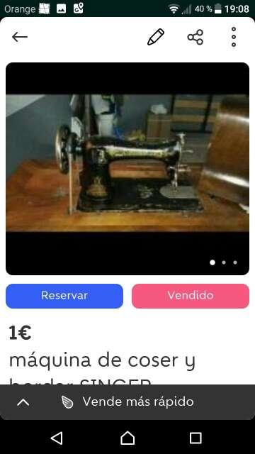 Imagen maquina coser antigua