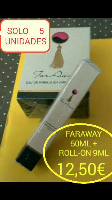 Imagen Faraway 50ml + roll-on 9ml perfume avon
