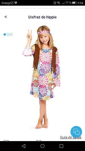 Imagen disfraz hippie para niña