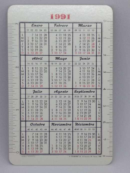 Imagen producto Calendario Fournier de la Caja Postal de 1991 2