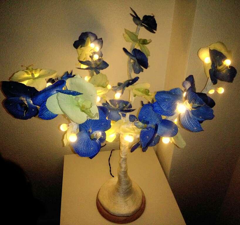 Imagen Lampara de noche, árbol decorativo con luces LED