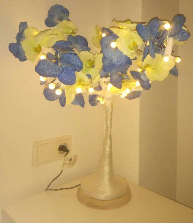 Imagen producto Lampara de noche, árbol decorativo con luces LED 4